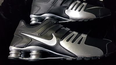 New MENS NIKE  SHOX  CURRENT  SILVER BLACK  Size 12