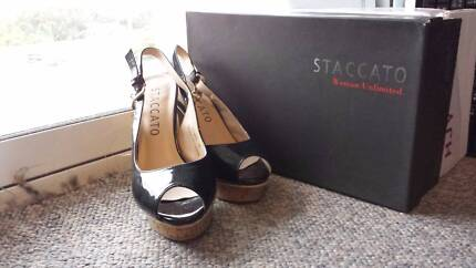 90% New Staccato Black High Heels