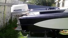 14ft savage fibreglass boat with 60 horsepower motor up for sale Henty Greater Hume Area Preview