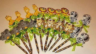 20 pcs Baby shower favor pens for girl/boy (safari)