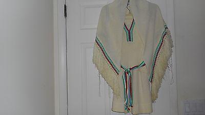 Vintage Dalton Winter White 3 Piece Knit Skirt Set Size S