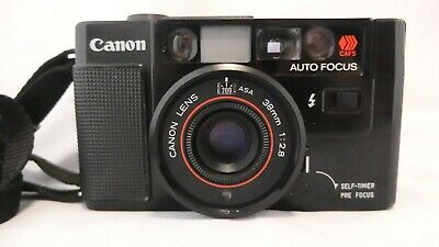 Canon AF35M Auto Focus Point / Shoot 35mm Film Camera with 38mm F/2.8 Lens