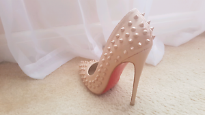Nude studded Christian Louboutin Shoes Balwyn Boroondara Area Preview
