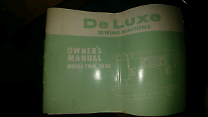 Vintage sewing machine De-Luxe swm-1000 Glossodia Hawkesbury Area Preview