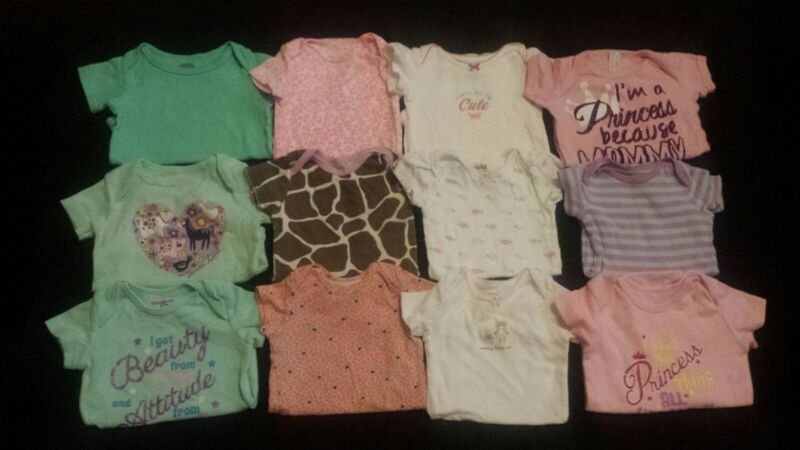 Baby Girl Size 12 Months Spring & Summer Clothing Lot *bodysuits*