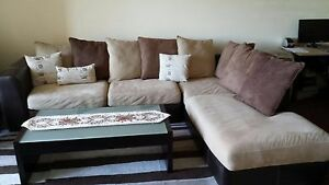 Fabric Corner Lounge with Chaise in excellent condition Rockdale Rockdale Area Preview
