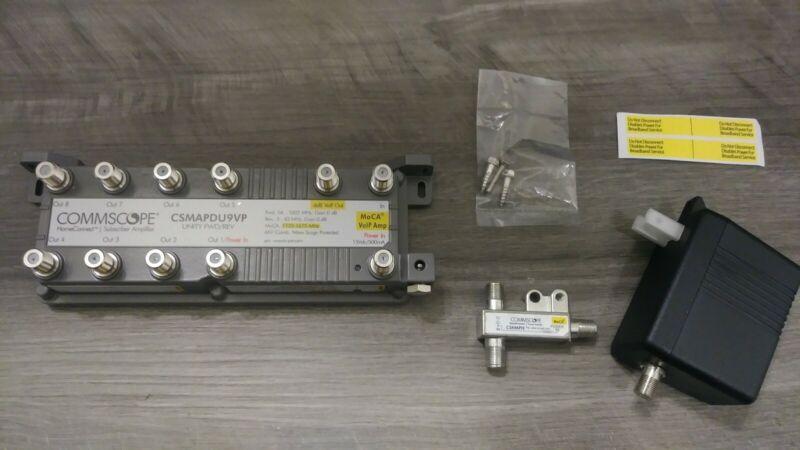 Commscope CSMAPDU9VPI 9-port  HomeConnect Passive VoIP Amplifier with MoCA(NEW)