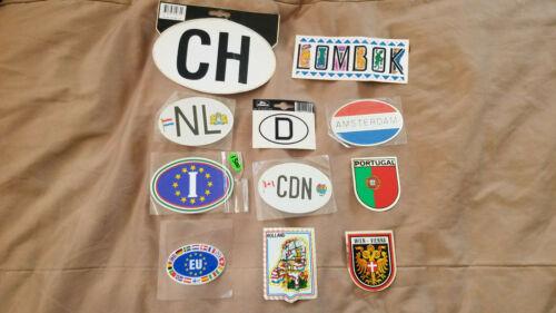 11 Vintage International Souvenir Travel Stickers Decals Lot EU NL D CDN WORLD