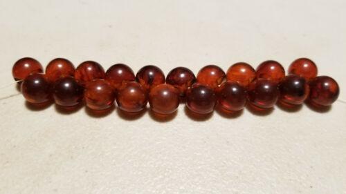 Vintage Cognac Bakelite Ball Beads Buttons Dangles Jewelry / 12mm / 20pc Lot