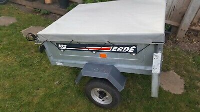 Erde 102 Car Trailer with cover