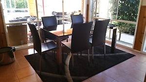 Glass Table with Chairs Berwick Casey Area Preview