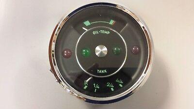 PORSCHE 356 VDO Fuel TANK and OIL TEMP GAUGE 6V VINTAGE ORIGINAL DASH CLUSTER