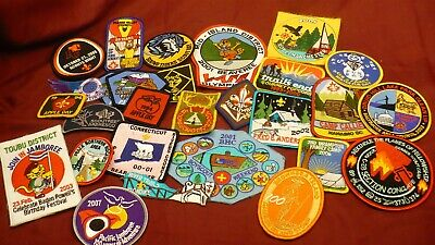 Scouting badges patch lot assorted 27 International collection Canada USA ++