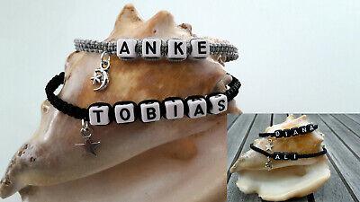 DIY Makramee Armband Namensarmband Freundschaftsarmband personalisiert Charm