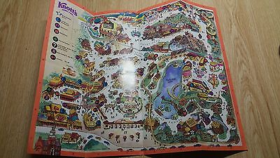 Vintage Knotts Berry Farm Official Souvenir Map Circa 1987  Nov 9- Nov 22
