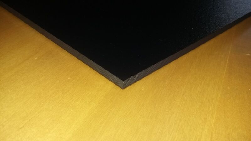 "1/4"" Black Starboard 12"" x 18"" - Great for Boat Helm Areas"