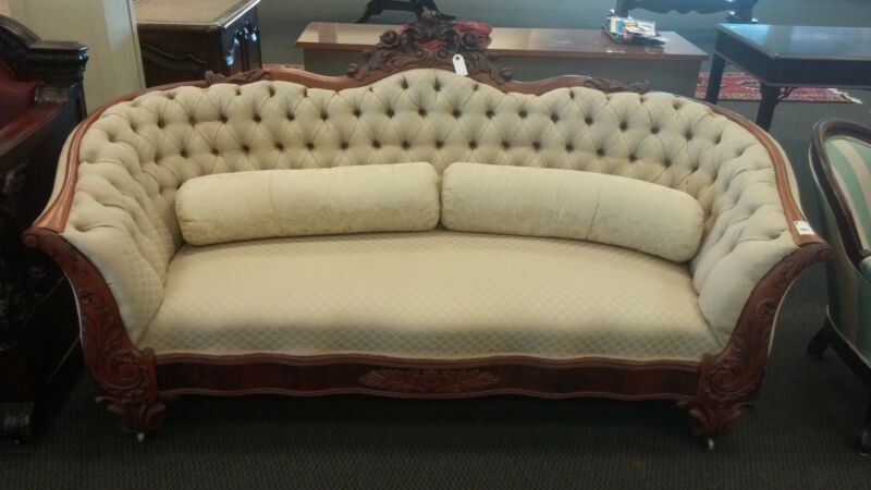 Antique Tufted Sofa