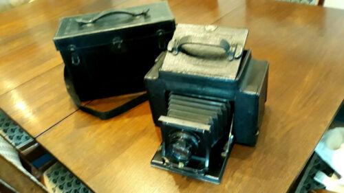 Antique 1904 GRAFLEX 3A model Kodak FOLDING CAMERA + custom leather case