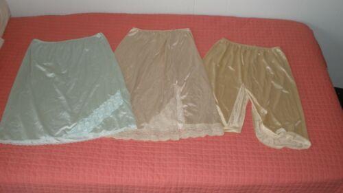 3 vintage half slips! All SZ MED! Vassarette, J C Penny