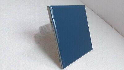 4 1/4 Navy Blue Ceramic Tile Vintage Daltile Gloss Retro Bathroom Kitchen 4.25