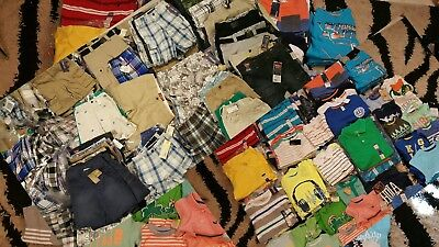 Wholesale 100 Piece Boys T-shirts cargo Jeans &Plaid shorts size 3Mth-18yrs NWT