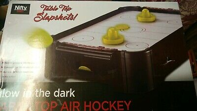 Nifty Glow in The Dark Table Air Hockey tested works! Approx. (Air Hockey Table Glow In The Dark)