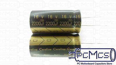 1 Pcs Of Elna For Audio Roa Cerafine 16v 2200uf Hi-fi Capacitor Black Version