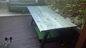 Rustic custom made wooden garden table Leichhardt Leichhardt Area Preview