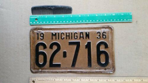 License Plate, Michigan, 1936, 62 - 716
