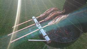 Steckerlfisch-Grillaufsatz für 4 Fische Weber Barbecue Fisch Grillen BBQ Zubehör