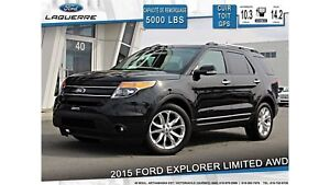 2015 Ford Explorer LIMITED**AWD*CUIR*TOIT*GPS*CAM*cruise adap*