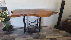 Table solid mango top with old sewing machine base.  Beautifully Cooloola Cove Gympie Area Preview