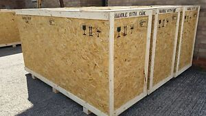 Wooden Shipping Crates - Transit Packing Cases / Boxes - 1m x 1m x 1m - ISPM15