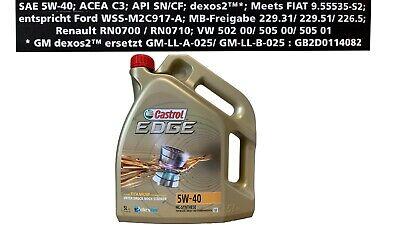 Castrol Edge FST 5W-40 5W40 Aceite de Motor 1x5 Litro