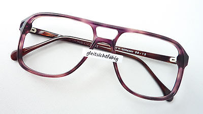 Oldschool Brille Marken Fassung Pilot Form solide Kunststoff braun frame size M