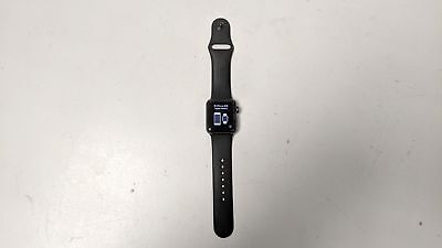 Apple Watch Series 3 Aluminium A1858 38mm GPS Space Grey with S/M Black Band