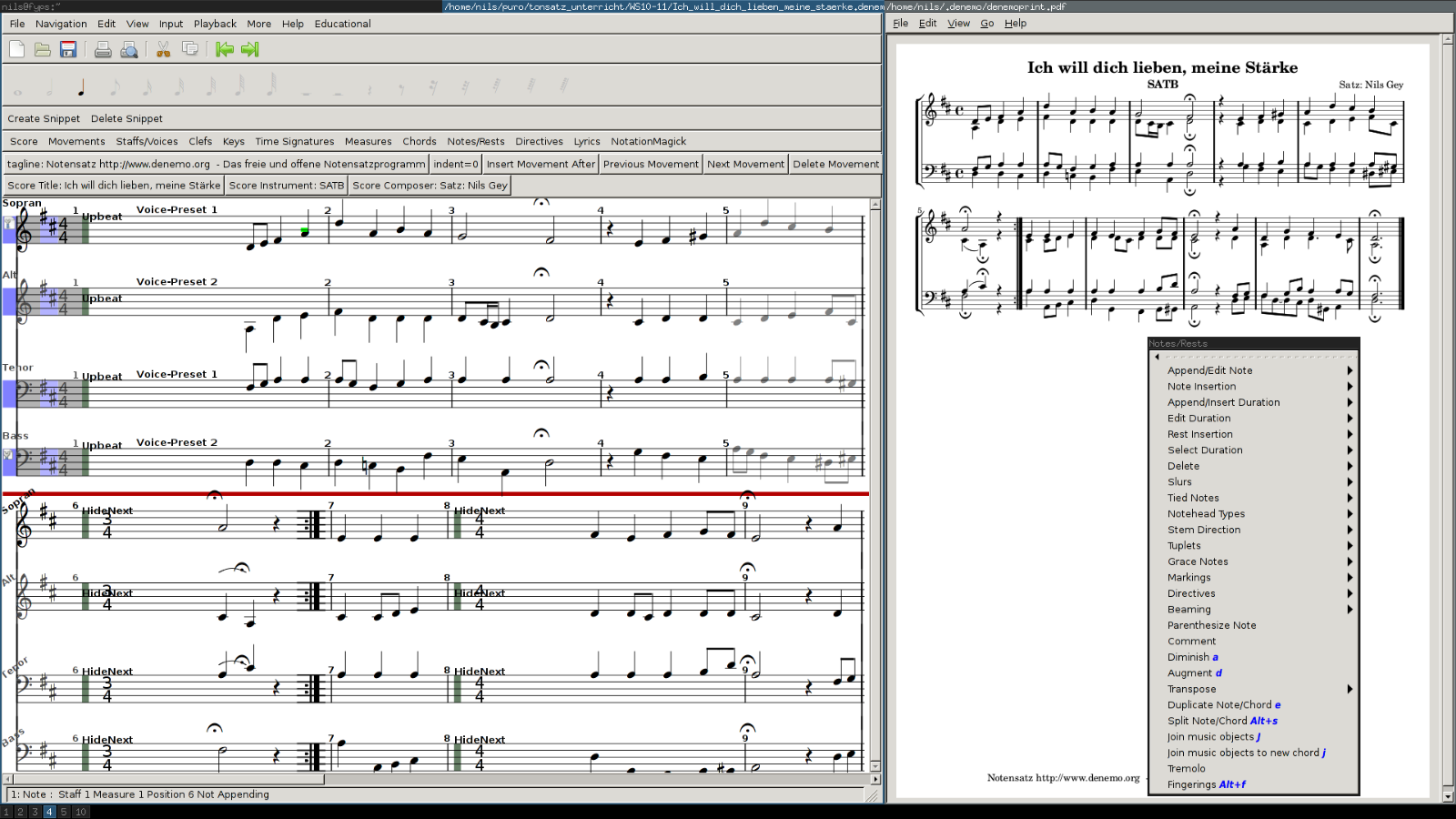 Denemo (Scorewriter and Music Sequencer Software) Windows/Mac USB