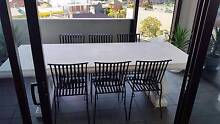 LARGE CONCRETE OUTDOOR TABLE & 6 CHAIRS SETTING Carlton Melbourne City Preview