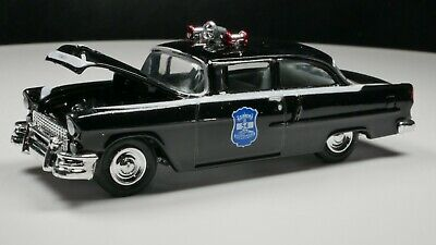 1955 Chevy Bel Air 1/64 Scale Diorama Car Rare Indianapolis, Indiana Police