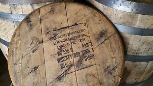 authentic jack daniels bourbon whiskey barrel head tops w stamp authentic jim beam whiskey barrel table