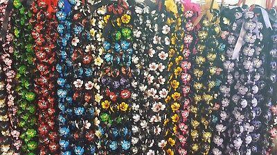 lot of 10 flower kukui nut leis hawaii