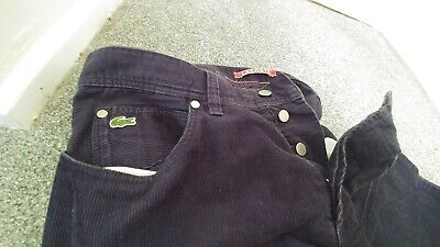 Mens Lacoste Live Corduroy Cords Blue Trousers W32 L32 L!ve, used for sale  Shipping to South Africa