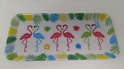 Cheap Serving Trays (Melamine Tray Flamingo Pattern Design 34cmx16cm Small Brand New)