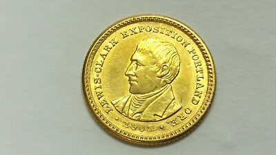 1905 Lewis & Clark $1 Gold XF Details: Scratches, No Spots, Strong Luster #733A