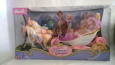 Mattel Barbie The Princess and the Pauper Royal Kingdom Carriage 2004 New RARE!