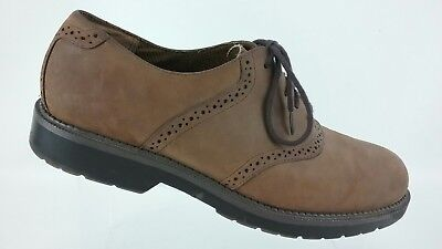 Dockers Men's Suede Leather Oxfords Size 10.5 Lace Ups Tan Brown Shoes R6S6
