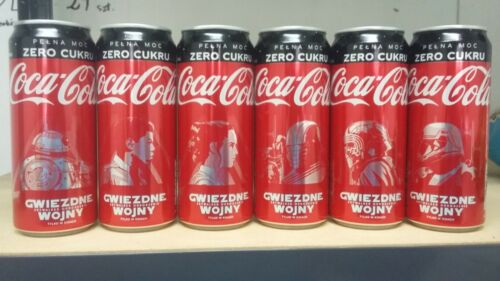 coca cola cans from Poland x 6. Star Wars