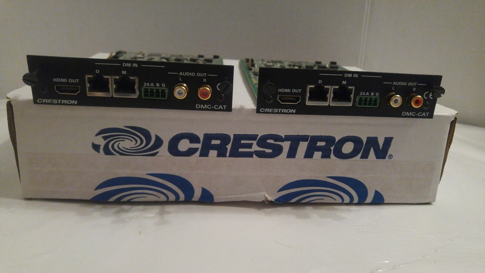 Lot of 2 CRESTRON DMC-CAT DigitalMedia CAT Input Card for DM Switchers UNTESTED