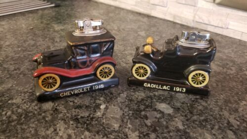Vintage Amico 1913 Cadillac T and Chevrolet  Table Top Cigarette Lighter 1960's
