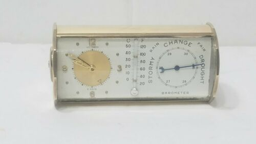 LeCoultre Alarm Swiss barometer thermometer weather station Desk Clock